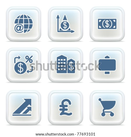 Internet icons on buttons 23 - stock vector