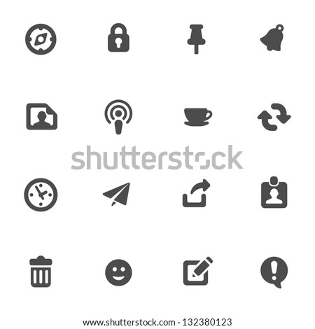 Internet icons set - stock vector