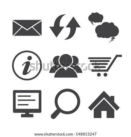 Internet icons set. Illustration eps 10 - stock vector