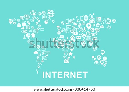 Internet of things concept - Flat icon, great for your design - stock vector