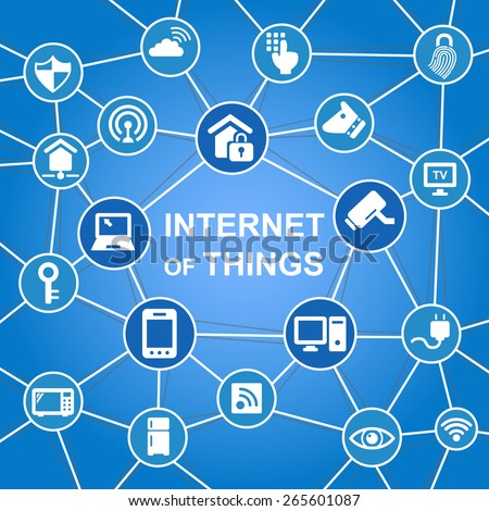 Internet of things concept with icons - stock vector