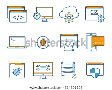 internet risk and safety  icons - stock vector