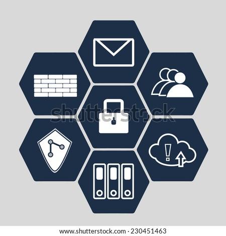 Internet Security  - stock vector