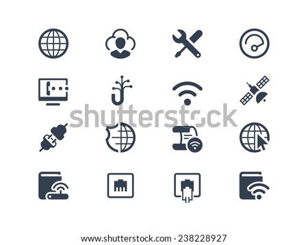 Internet service and internet provider icons - stock vector