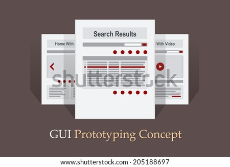 Internet Site Map Navigation Structure Prototype vector - stock vector