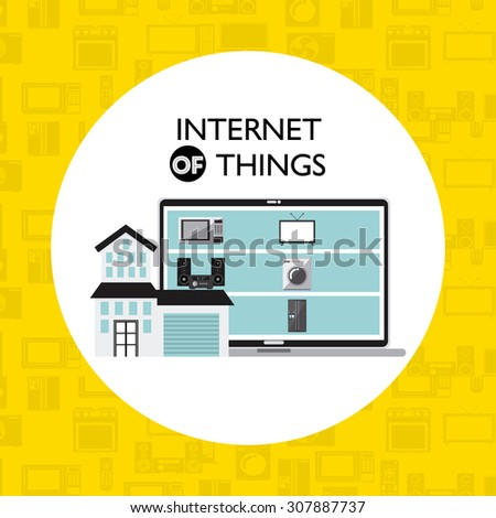 internet things design, vector illustration eps10 graphic  - stock vector