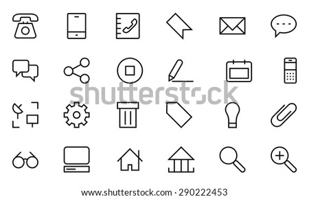 Internet Vector Line Icons 1 - stock vector