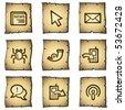 Internet web icons set 2, papyrus series - stock vector