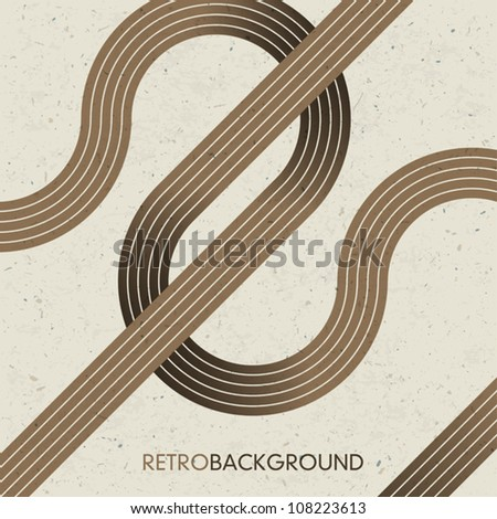 Intersecting lines. Retro background, vector, EPS10. - stock vector