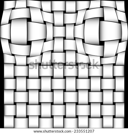 intertwined bands - interwoven - stock vector