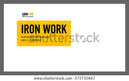 Introducing Presentation Slide 1 - stock vector