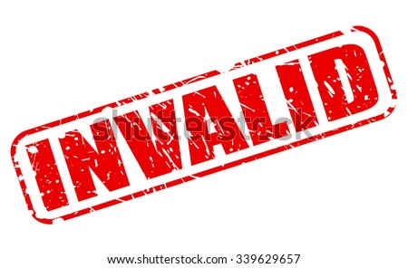 INVALID red stamp text on white - stock vector