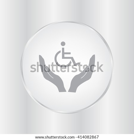 Invalid sign on a hand icon, Vector illustration. Flat design style1 - stock vector