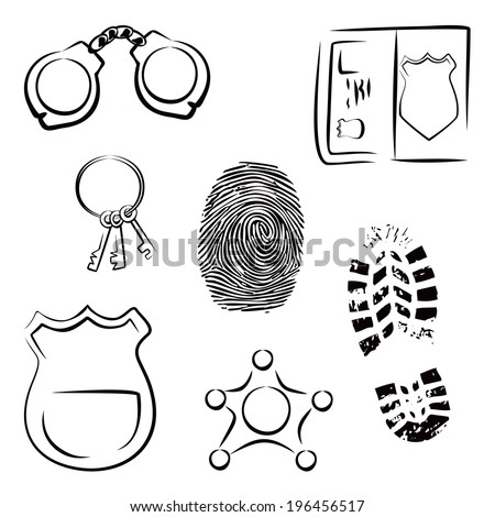 Investigation icons - stock vector
