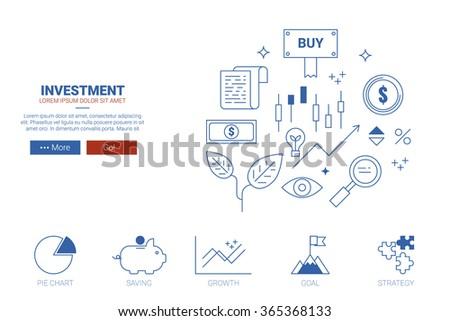 Investment concept flat design for landing page website or magazine illustration print - stock vector