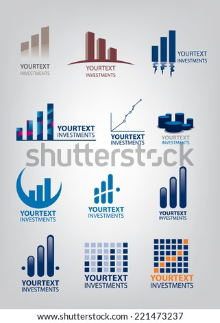Investment Icon Collection, Bars, charts, Winning, money, stocks (vector Art) - stock vector