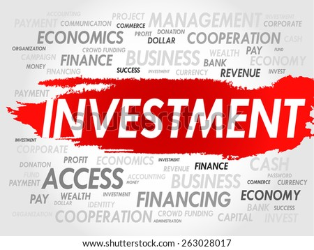 INVESTMENT word cloud, business concept - stock vector
