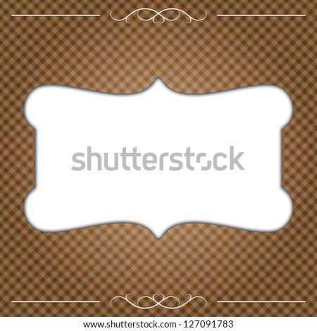 invitation card. chocolate color. eps10 - stock vector