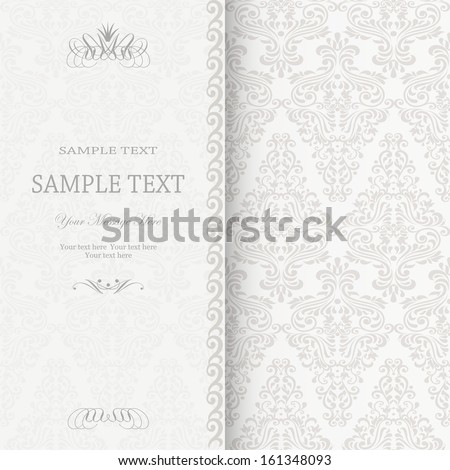 Invitation card in an old-style - stock vector