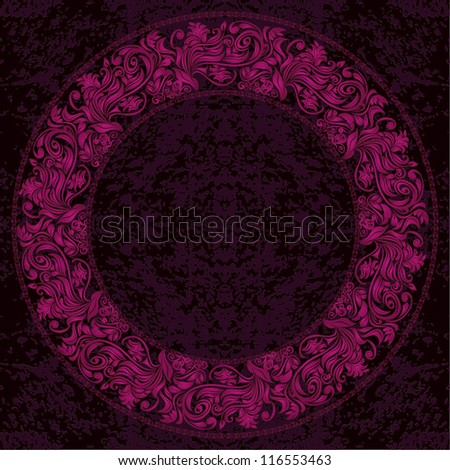 Invitation card with lace ornament. - stock vector