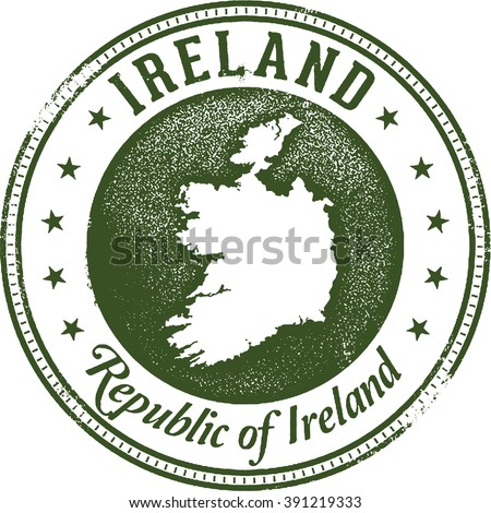 Ireland European Country Stamp - stock vector