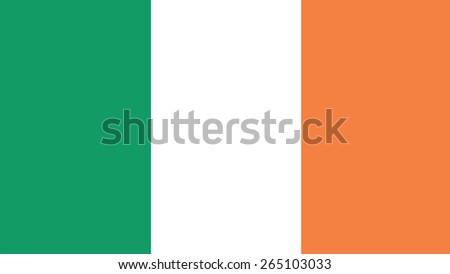 Ireland Flag for Independence Day and infographic Vector illustration. - stock vector