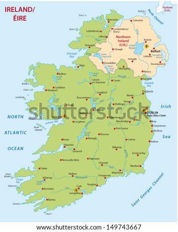 ireland map - stock vector
