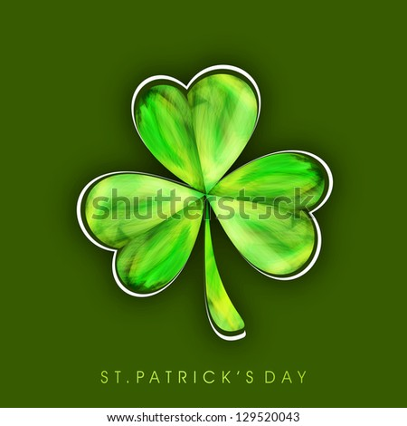 Irish shamrock leave background for Happy St. Patrick's Day. EPS 10. - stock vector