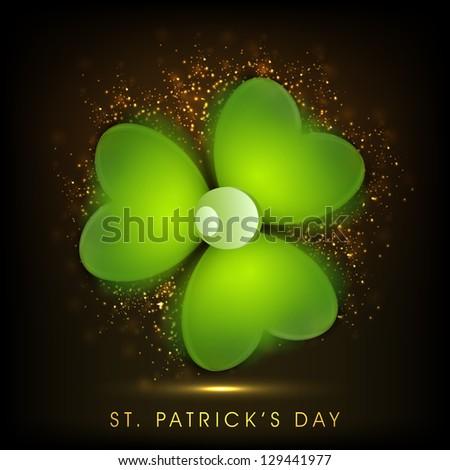 Irish shamrock leaves background for Happy St. Patrick's Day. EPS 10. - stock vector