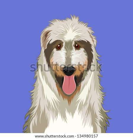 Irish wolfhound, The buddy dog - stock vector