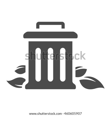 Iron icon in single grey color. - stock vector
