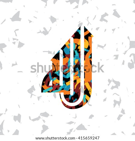 islamic abstract calligraphy art - allah is the only god - stock vector
