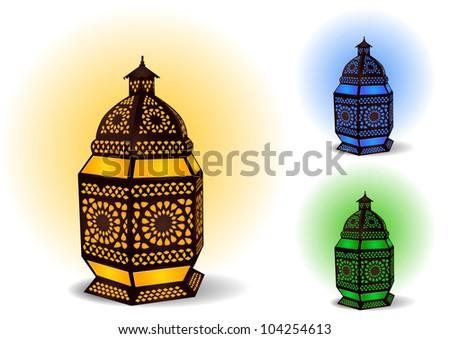 Islamic lamp for Ramadan / Eid Celebrations - Vector Illustration - stock vector