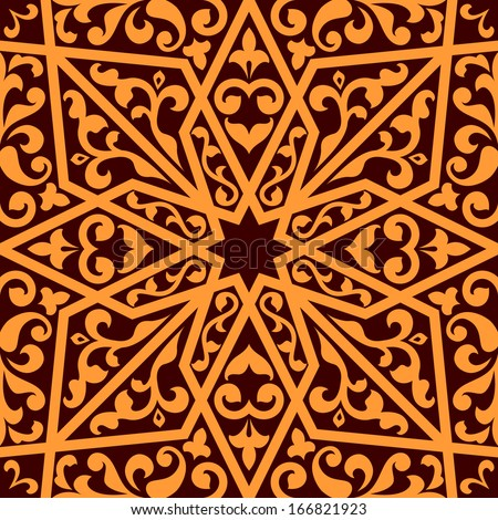 Islamic or arabic seamless pattern with elements of ornament - stock vector