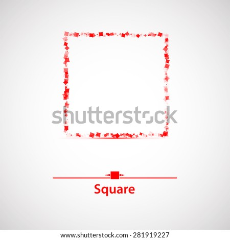 isolate square. Abstract framework for your text - stock vector