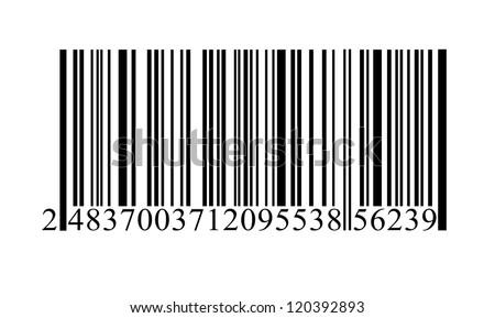 Isolated bar code vector. - stock vector