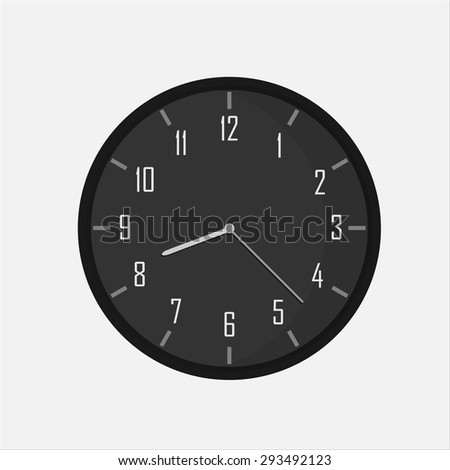 isolated black clock.  - stock vector