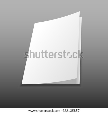 Isolated blank magazine, album or book mockup on gray background - stock vector