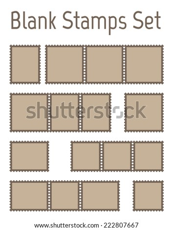 Blank postage stamps stock photos blank postage stamps for Post office design your own stamps