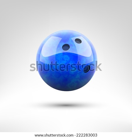 Isolated blue bowling ball vector illustration - stock vector