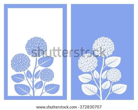 isolated blue hydrangea flower,vector illustration - stock vector
