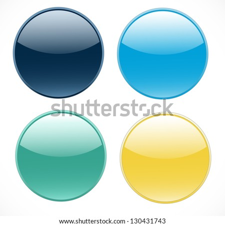 Isolated buttons on white background vector. - stock vector