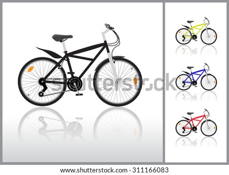 Isolated bycicle illustration - stock vector