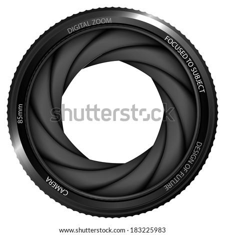 isolated camera shutter ready to snapshot vector illustration - stock vector
