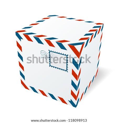 Isolated cardboard box - stock vector