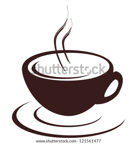 Isolated cup of hot coffee - stock vector