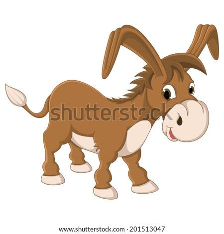 Isolated Donkey Vector Illustration - stock vector
