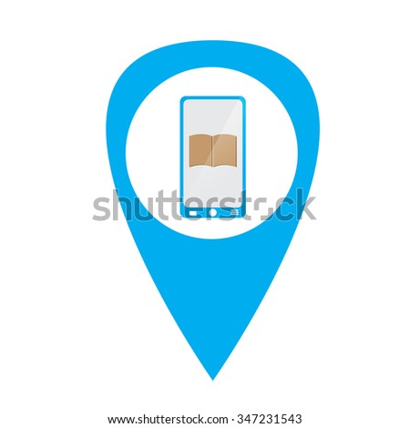 Isolated e-book icon on a white background - stock vector