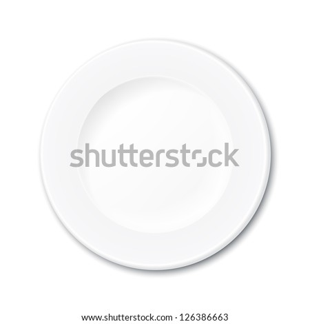 isolated empty plate - stock vector