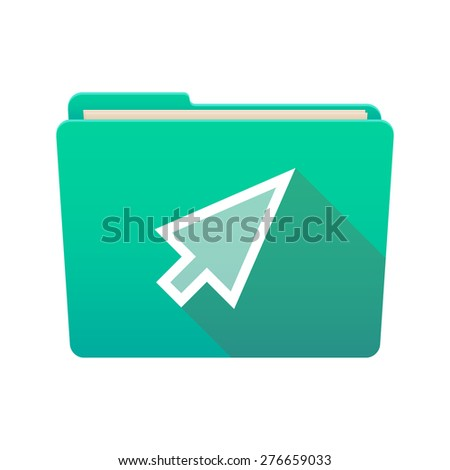 Isolated file folder icon with a cursor - stock vector